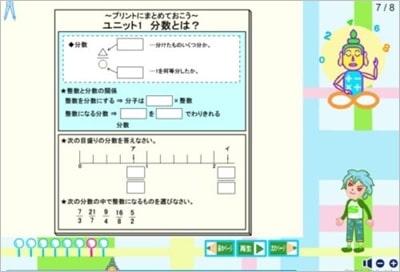 アニメーション授業のあるネット教材